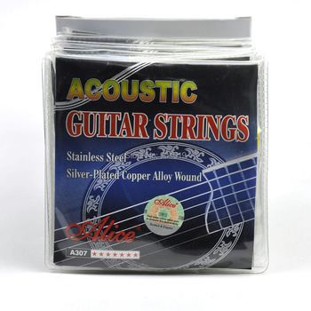 20Sets Alice Acoustic Guitar Strings Steel Core Silver Plated Copper Alloy Wound A307-SL
