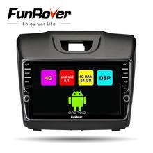 Funrover android8.1 2 дин dvd-плеер мультимедиа для Chevrolet Trailblazer Колорадо S10 Isuzu D-max MU-X стерео радио gps DSP