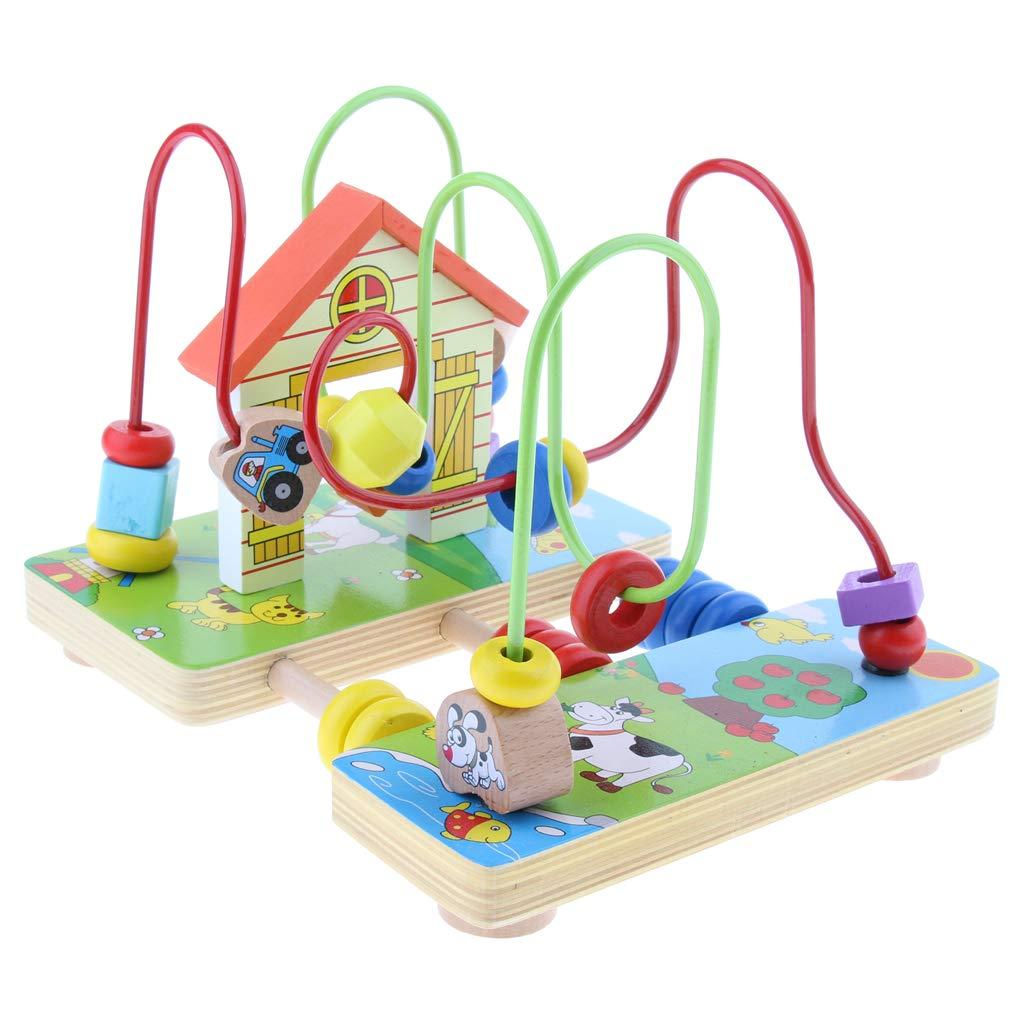 Perle en bois perle labyrinthe montagnes russes jeu forme couleur reconnaissance début d'apprentissage jouets éducatifs cadeau pour enfants enfants