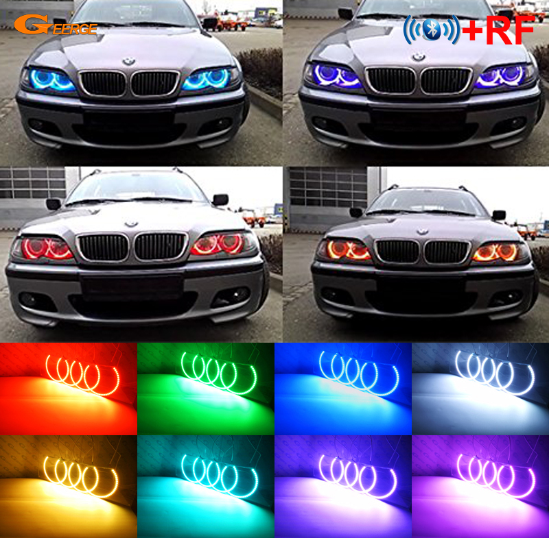 Us 51 23 8 Off For Bmw E46 M3 With Factory Equipped Hid Xenon Headlight Rf Bluetooth Controller Multi Color Ultra Bright Rgb Led Angel Eyes Kit In