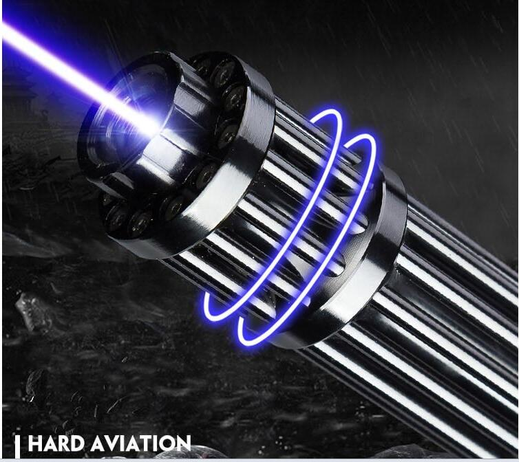 HOT! Haute Puissance 5000000 m 500 w vert Bleu Laser Pointeur 450nm Lazer lampe de Poche Allumette/Brûler cigares légers/ bougie/noir Hunti