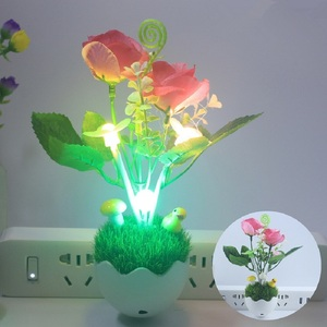 Image 5 - Night light control intelligent led Nightlights color changing mushroom light simulation plant 100V 240V US plug Night light