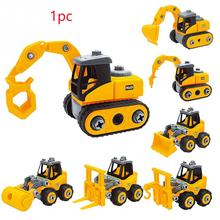 Coolplay 3PcsSet Mini Engineering Car Model Tractor Toy Dump Truck Model Classic Toy Vehicles Mini Gift For Boys