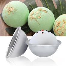 4pcs Creative Metal Aluminum Alloy Bath Bomb Molds 3D Ball Sphere Shape DIY Bathing Tool Accessories