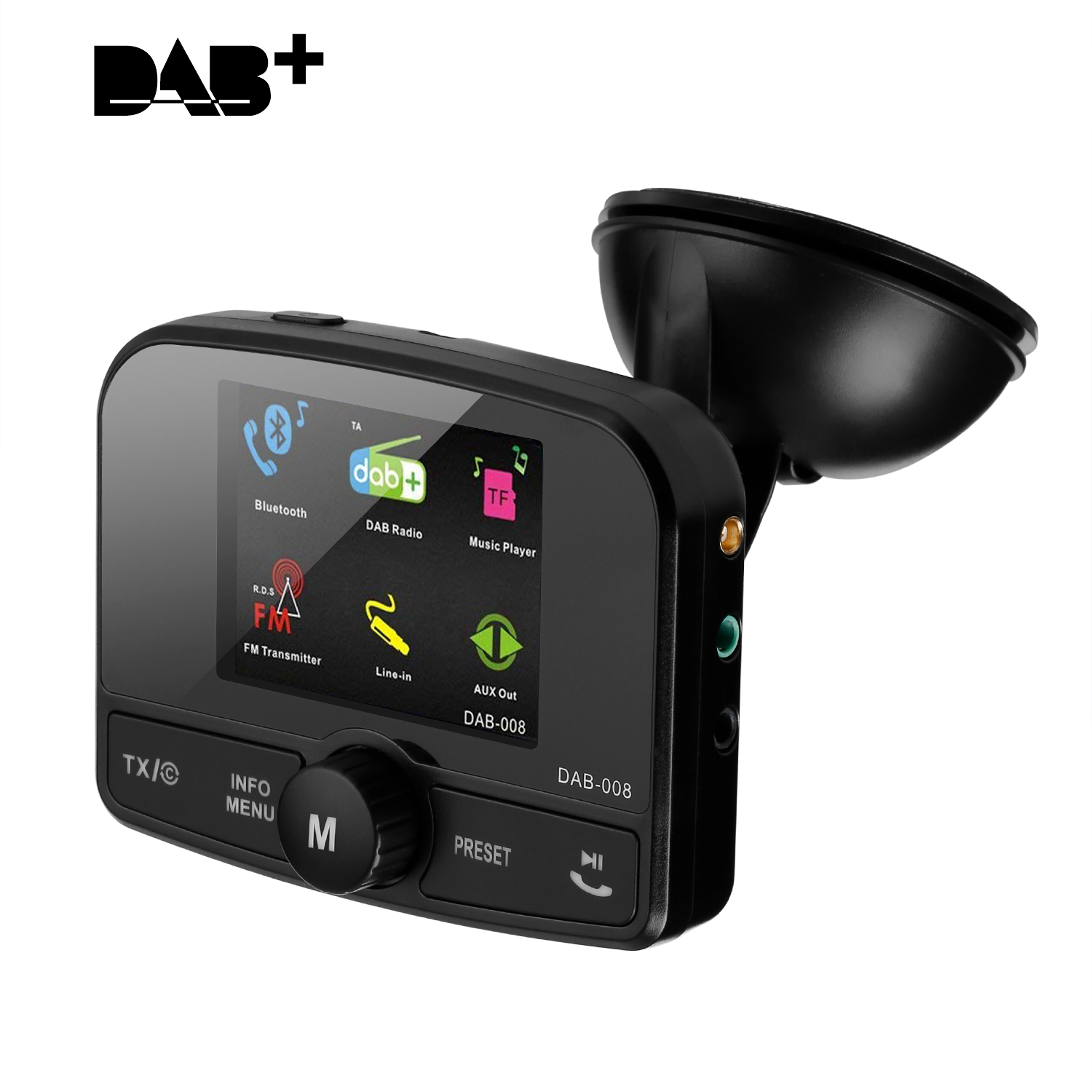 excelvan car digital radio dab dab adapter with bluetooth. Black Bedroom Furniture Sets. Home Design Ideas