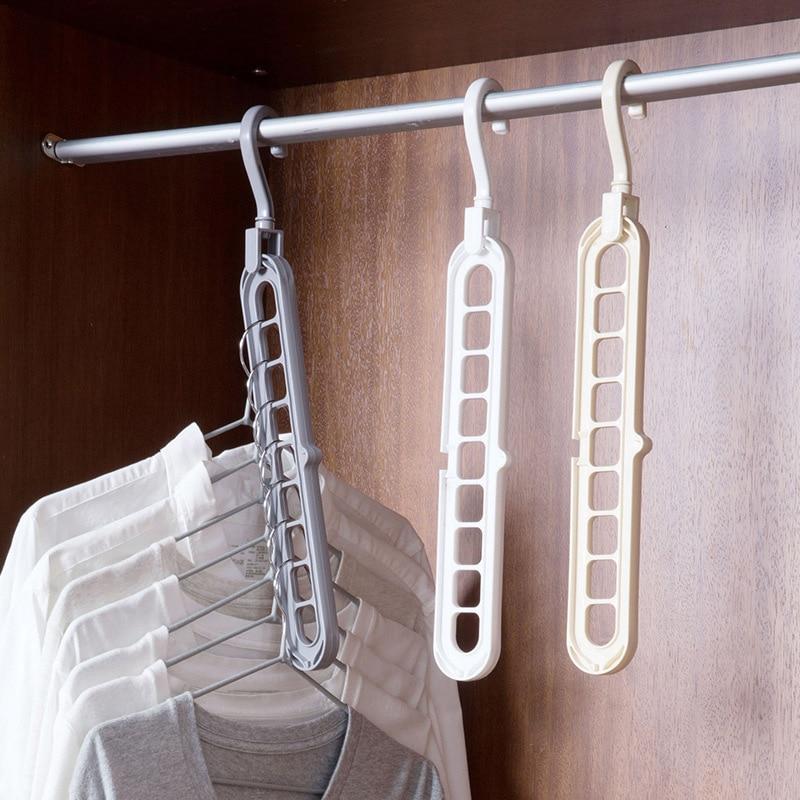 Image 2 - Sale 1PC Multifunctional magic interior wardrobe hanger  Clothes Storage Organization-in Hanging Organizers from Home & Garden
