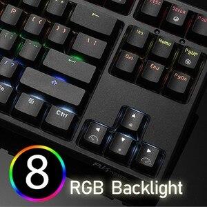 Image 3 - RK Sink87G Teclado mecánico para jugar, inalámbrico, interruptor azul y marrón, retroiluminación LED RGB de 2,4G, para PC, portátil, Notebook, MMO