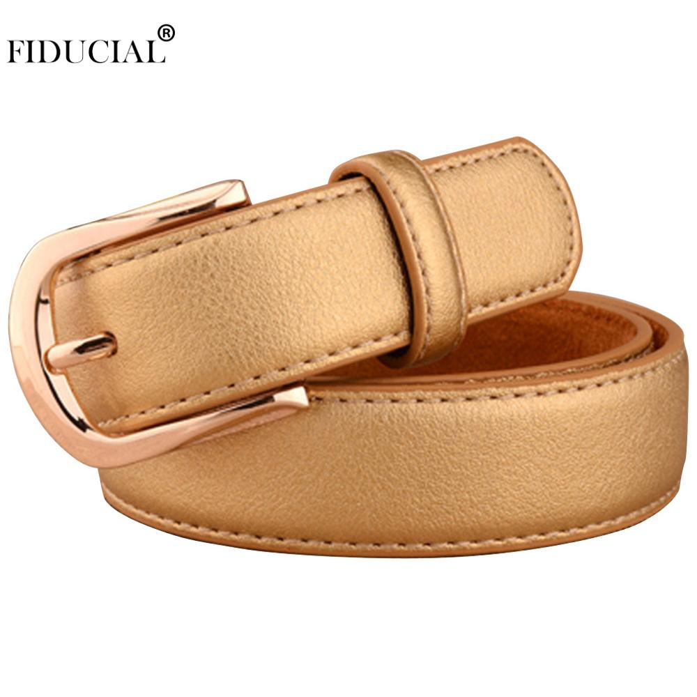 Ladies Quality Design Gold Colour Unique Designer Women's Casual Style Belts For Women New(China)