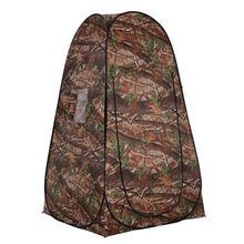 TOMSHOO Beach Tent Pop Up Camping Tent Toilet Shower Tent Changing Sun Shelter with Carrying Bag for Hiking Travel Camouflage