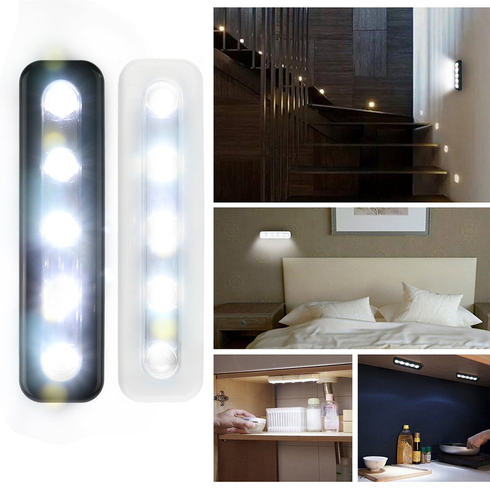 Mini 5 LED Cabinet Light With Adhesive Sticker Lamp For Kitchen Bedroom Cupboard Drawer Closet Wardrobe Lighting Wall Light Lamp