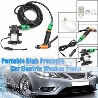 Car Wash 12V Car Washer Guns Pump High Pressure Cleaner Car Care Portable Washing Machine Electric Cleaning Auto Device