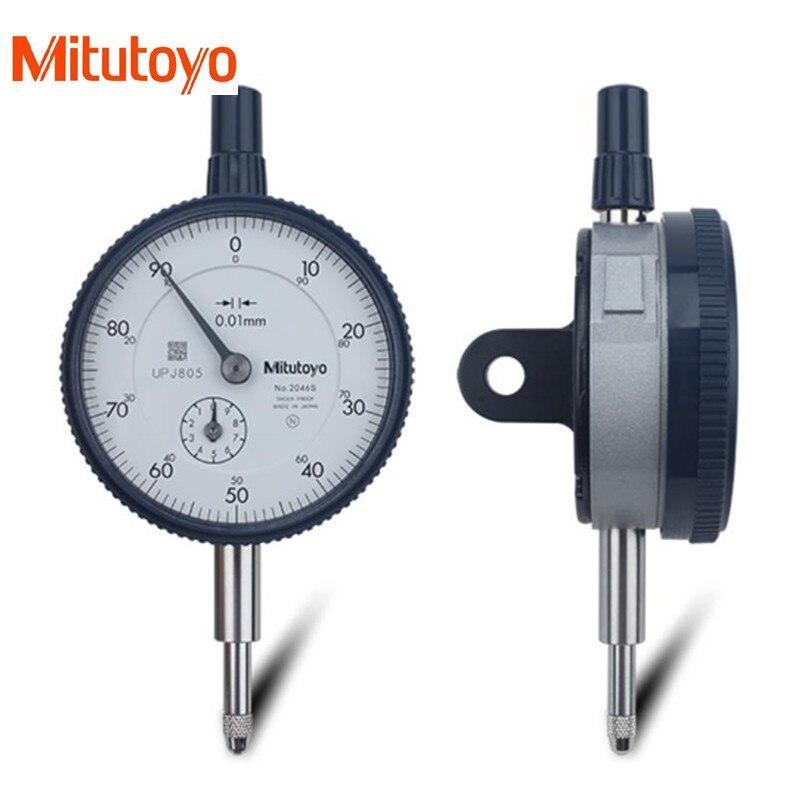 100 Real Japan Mitutoyo Dial Indicator 2046s 0 10mm 0 01 Dial Test Gauge Micrometer Measuring