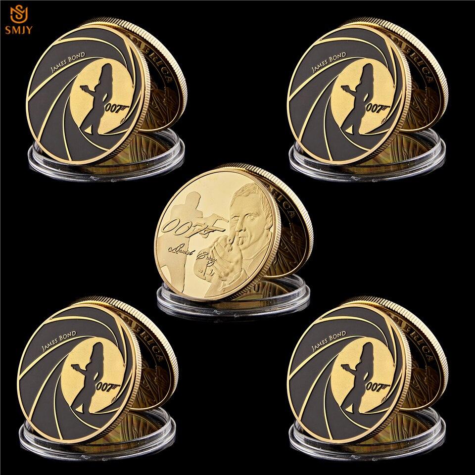 Movie Star James Bond 007 Collectible Silver Coin Value Collection