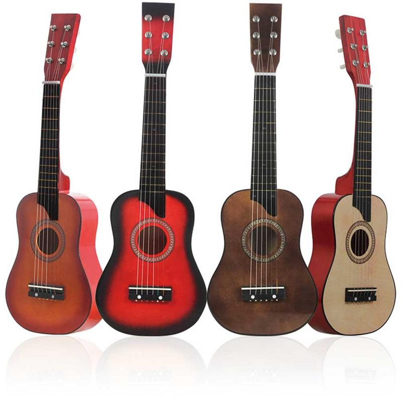 2019 New 25-inch Ukulele Basswood Six-string Wooden Children's Toy Guitar Musical Instrument Guitar For Beginner High Quality