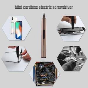Image 4 - Destornillador eléctrico inalámbrico recargable, herramienta de reparación de teléfonos, destornillador eléctrico de aleación