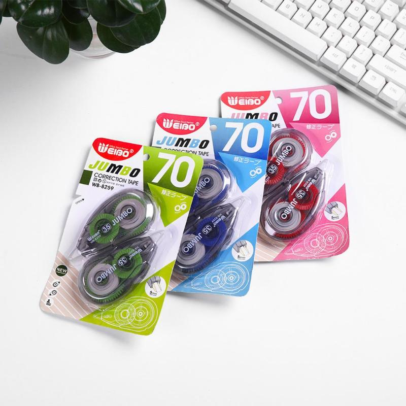 2pcs/set Correction Tape Student Children Corrector Tapes Office School Stationery Supplies Color Random Plastic Correction Tape
