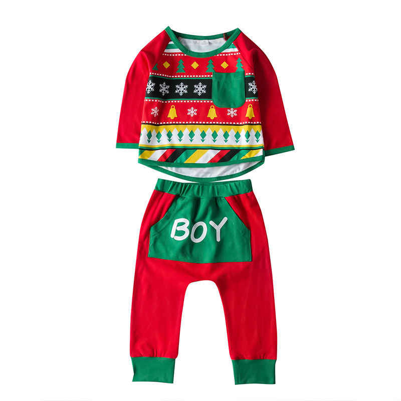 คริสต์มาสครอบครัวผู้หญิงผู้ชายเด็กชุดนอนเด็กชุดนอนชุดกวางฝ้ายชุดนอนใหม่ Xmas PJS ชุด