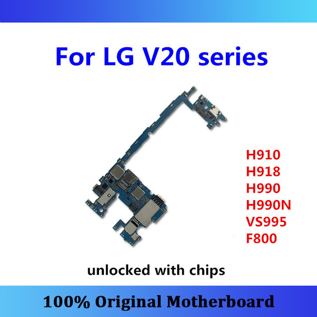 US $45 95 |Original unlocked logic board for LG V20  H910/H918/H990/H990N/VS995/F800 motherboard 64gb with chips mainboard good  working-in Mobile Phone