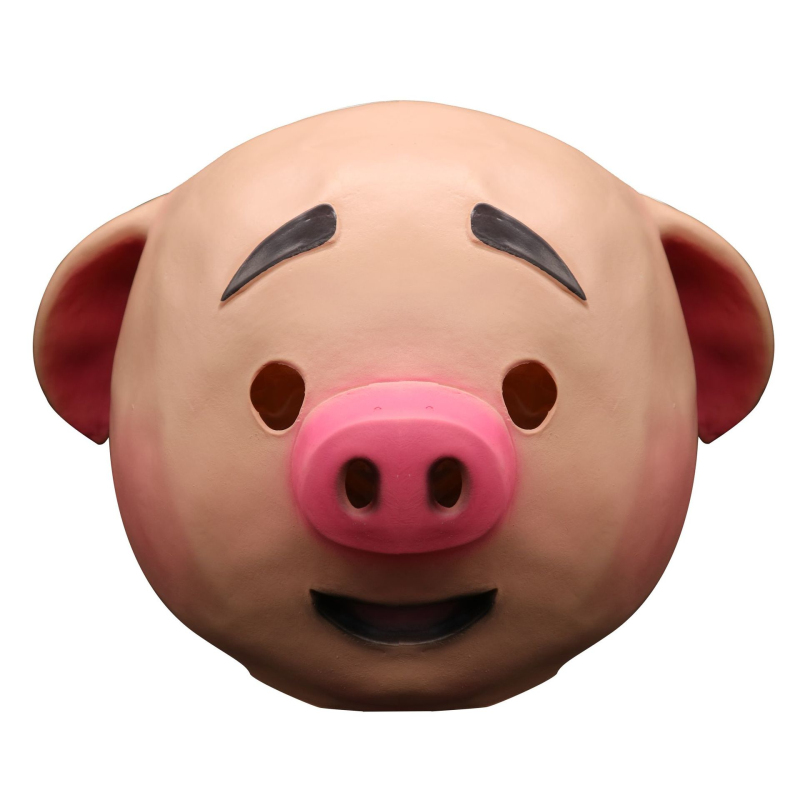 Hot Cosplay pig Masks Kids Halloween Full Face children cosplay lovely pig Latex mask helmet halloween costume for child party