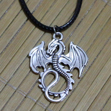 Dragon Pendant Silver Necklace