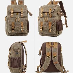 Image 4 - Batik Camera Bag Canvas Camera Backpack Waterproof Multi functional Outdoor Wear resistant Camera Backpack for Canon/ Sony/Nikon