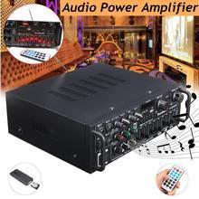 Bluetooth 2,0 канала 2000 Вт аудио Мощность HiFi Усилители домашние 326BT 12 В/220 В AV колонка с усилителем с дистанционное управление для автомобиля дома