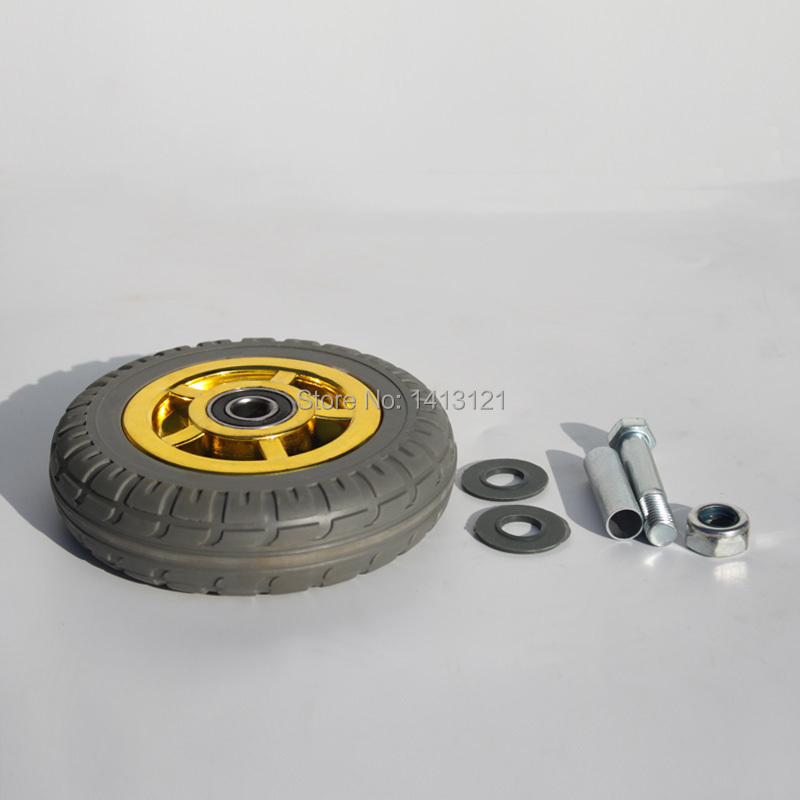 One Piece 75mm Caster Solid Rubber Tire Trolley Wheel Bearing Caster Universal Mute Round Wheel Small Cart Medical Bed Wheel