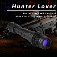 Hunting High Power Green Laser Designator Tactical Ar15 M16 Laser Beam Zoomable Green Laser Pointer Flashlight for Rifle