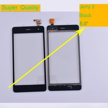 10Pcs/lot For Wiko Jerry 2 Jerry2 Touch Screen Panel Sensor Digitizer Front Outer Glass Touchscreen