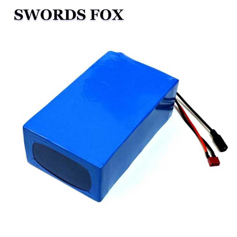 SWORDS FOX 48V 1000W lithium battery 48V 20AH ebike battery 48V 2600mah cell electric bike battery with 30A BMS 54.6V 2A Charger