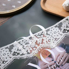 Width 6cm Exquisite Unilateral Eyelashes Tulle Lace Embroidery Diy Underwear Clothing Neckline Decoration Sewing Accessories