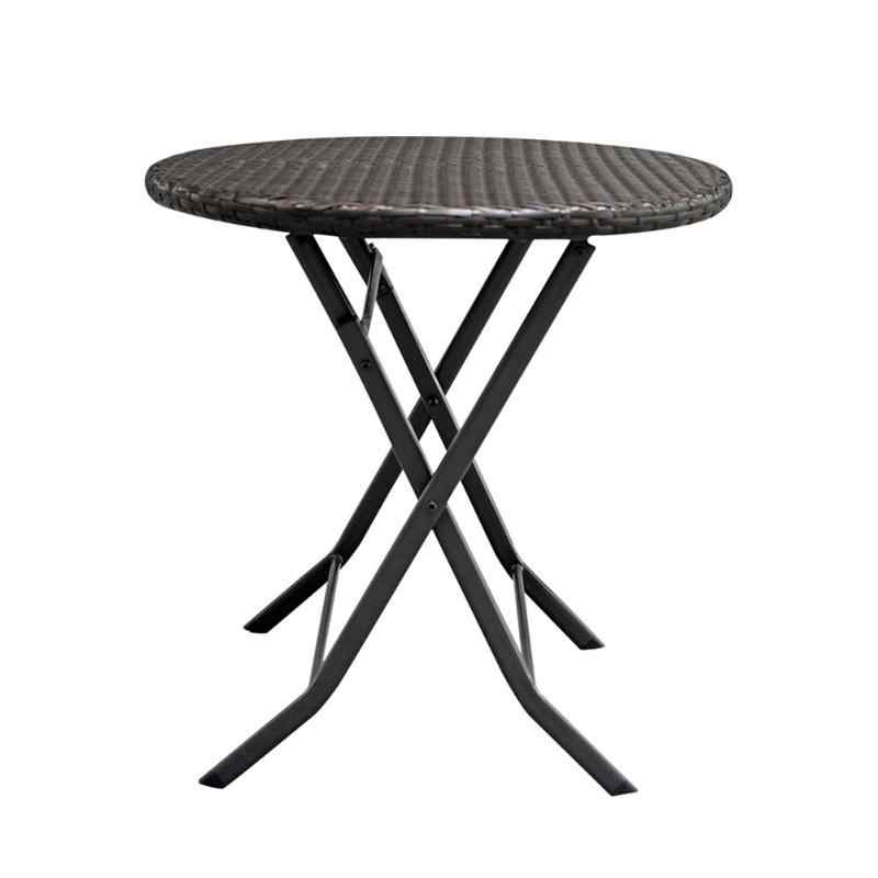 3pcs/set Foldable Furniture Gradient Garden Rattan Coffee Table+2pcs Chairs Househoud Home Decoration Home Garden Table Set
