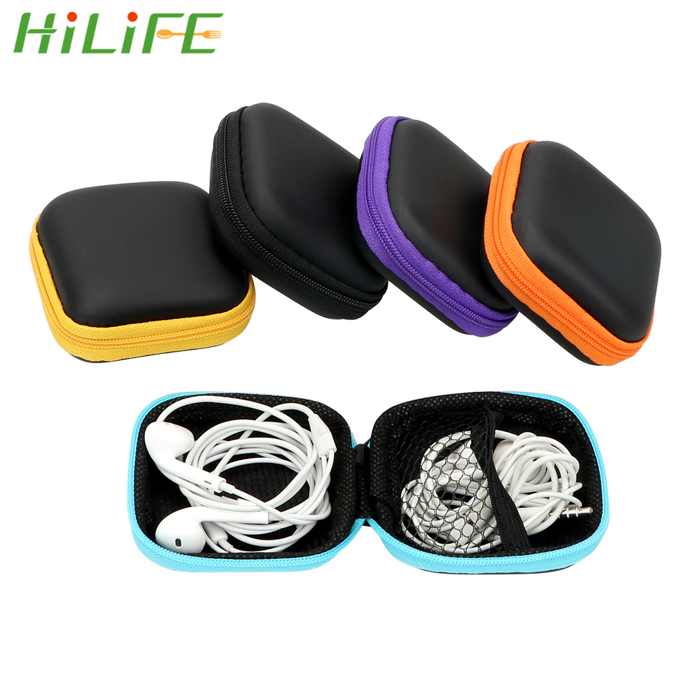USB Cable Organizer Earphone Storage Bag Headset Cover Protector Mini Zipper Hard Headphone Case Portable Earbuds Pouch Box