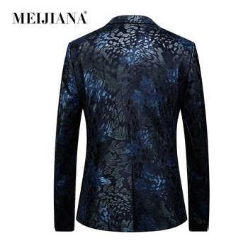 Dress Stylish Coat Floral Elegant Blaser Floral Mens Masculino Jacket Latest Wedding Men MEIJIANA Blazer Vintage Design