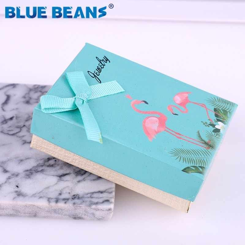 Square jewelry organizer shape box Engagement Ring For Earrings Necklace Bracelet Display Gift Boxes Holder carton bow case new