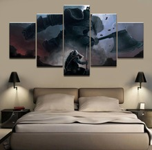 5 Panels Game Dark Souls Iron Golem Wall Art Modular Picture Canvas Painting Poster For Modern Bedroom Home Decorative Draw