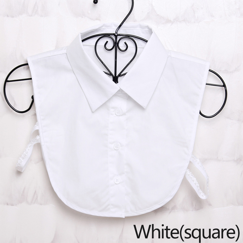 Women Cotton / Chiffon Fake Collar Detachable Solid Lapel Necklace  Shirt Fake False Collar Lapel Blouse Top Women Clothes Decor