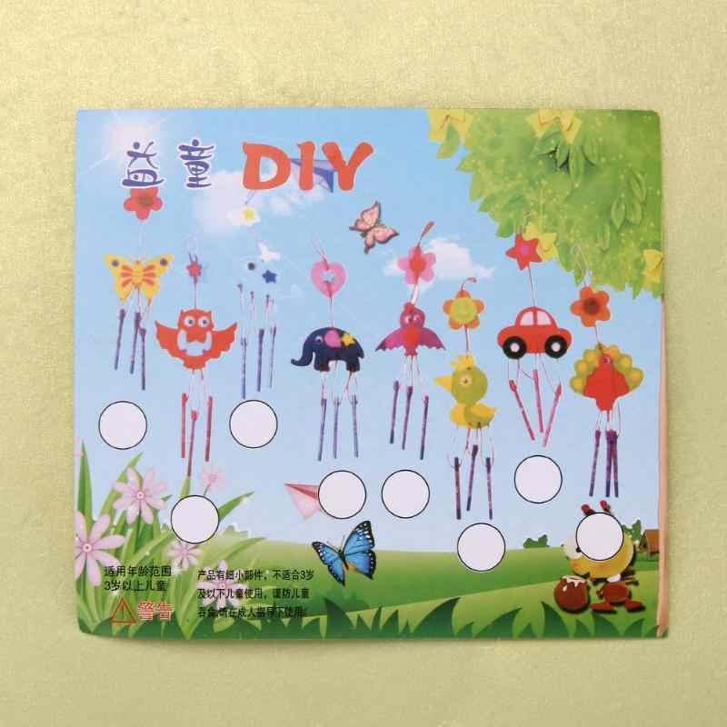 Anak-anak Anak DIY Angin Bunyi Genta Lonceng Aeolian Bells Puzzle Pendidikan Mainan Kerajinan Kit Buatan Tangan Merasa Hewan Plush Mainan untuk Anak-anak Hadiah