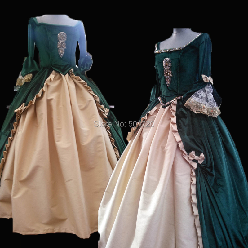 Tailored!Classical Theatre TV Duchess Queen 17th Medieval Renaissance Gown Era Halloween Retro Cosplay dress all size HL-529(China)
