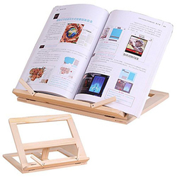 Wooden Reading Book Support Stand Lectern Wood Tablet PC Bookends Bracket