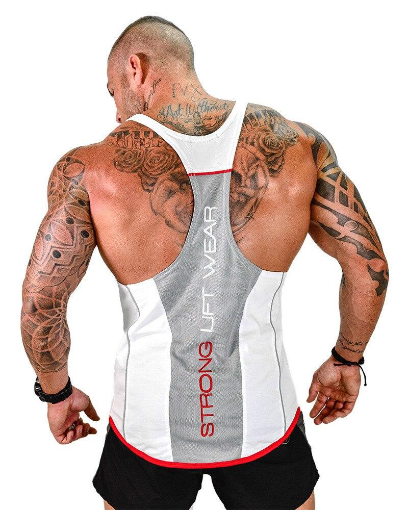 2018   Tank     Tops   Men Brand Mens Sleeveless Shirts Summer Clothing Bodybuilding Undershirt Casual Fitness Tanktops Tees
