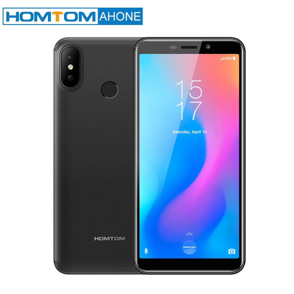 HOMTOM C2 Téléphone Mobile Ouad Core Android 8.1 OS 5.5 Pouces Écran 2GB 16GB ROM Charge Rapide Face ID 13.0MP Double Cams OTA 4G LTE