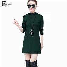626bbf18c294bd0 Зимнее базовое теплое бархатное мини-платье горячее женское длинное рукав  тонкий зеленый красный маленькое черное