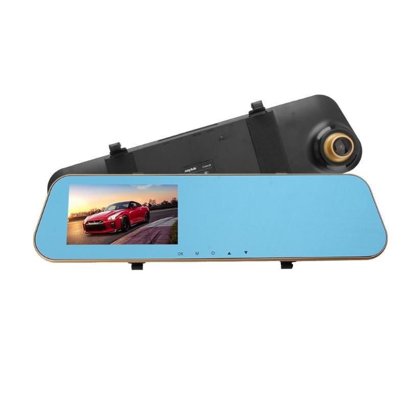 Anytek N8 4.3 pouce Voiture Rétroviseur DVR Caméra 1080 p Full HD Double Lentille Auto Enregistreur Vidéo de Détection de Mouvement g-capteur Dash Cam