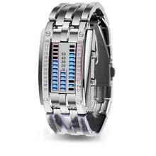 Men Women Creative Stainless Steel LED Date Bracelet Watch Binary Wristwatch Electronics  Fashion Casual dropshipping