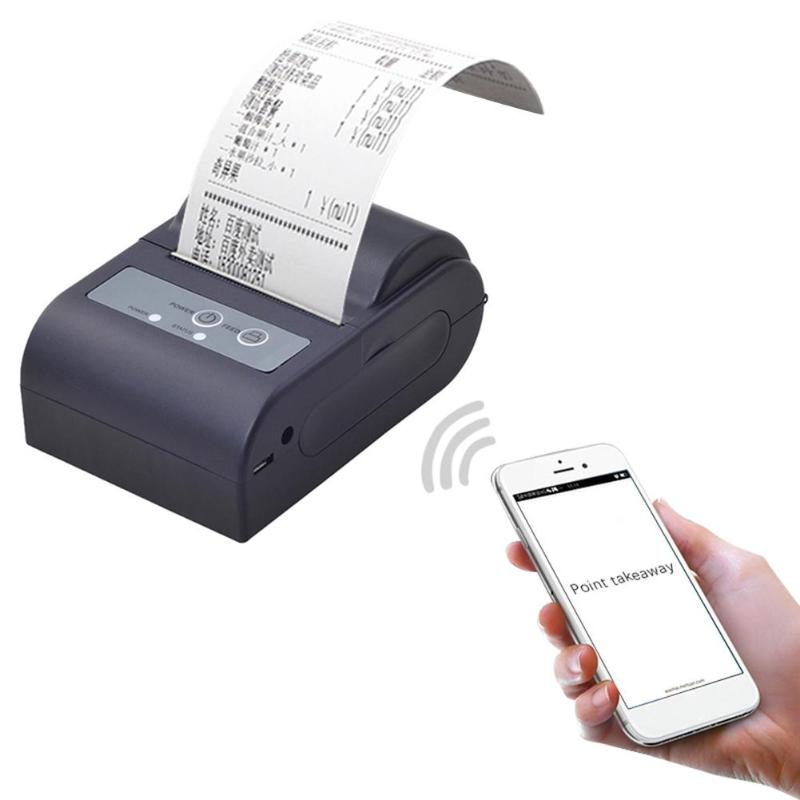 Mini Portable Bluetooth Thermal Receipt Printer for Android Phone US Plug for Home Office image