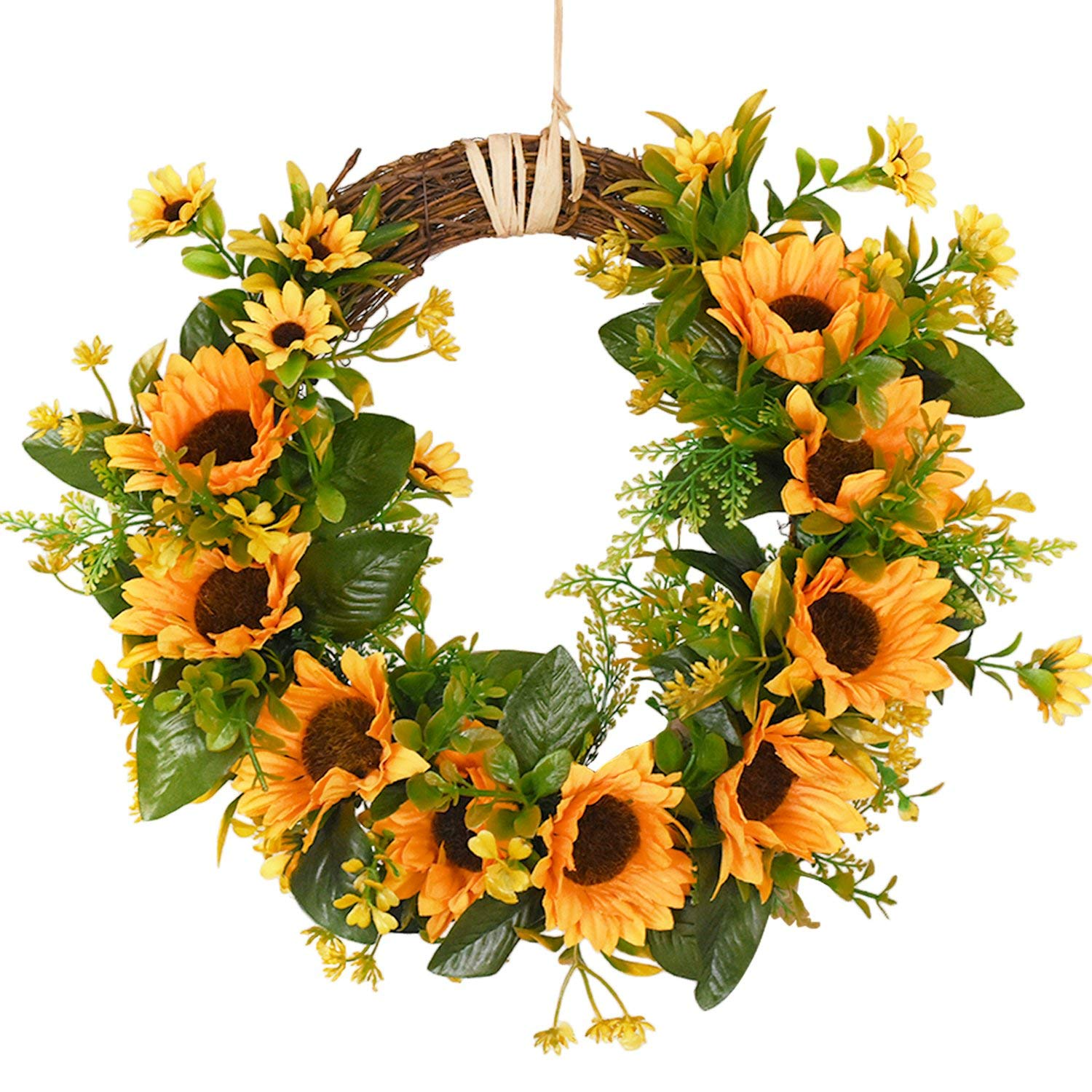 Artificial Sunflower Wreath Flower Wreath With Yellow Sunflower And