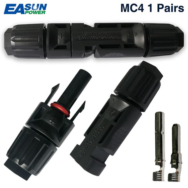 EASUN moc 1 par X MC4 złącze męskie żeńskie złącze solarne MC4 panel słoneczny oddział seria połączyć dla systemu zasilania słonecznego