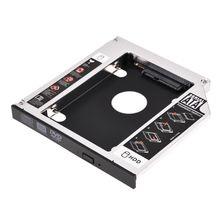 SATA 2nd HDD корпус жесткого диска карман для жесткого диска Дело лоток, универсальный для 12,7 мм ноутбука CD/DVD-ROM оптический привод блока слот (для SSD
