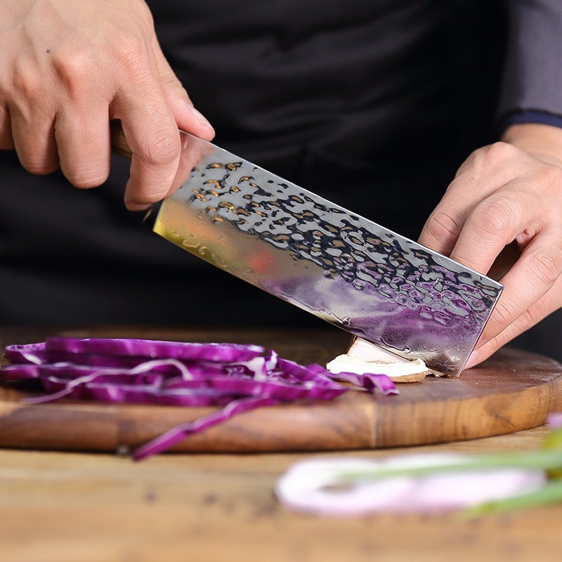 6 5 Inch 67 Layers 9CR18Mov Damascus Steel Knife Chef Kitchen Vegetable Knife Zebrawood Handle Knives